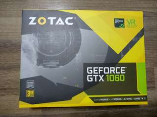 Zotac 1060 3GB Mini GPU (With 5 Years Extended Local Warranty)