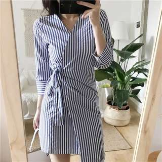 🆕 READY STOCK STRIPE DRESS