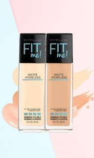 Maybelline fit me foundation matte and poreless - all shade
