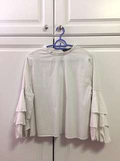 White Zara long sleeve top (basic collection)