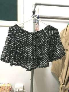 🚚 黑色蕾絲點點裙