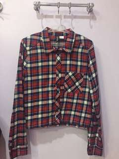 H&M Red Button Down Polo