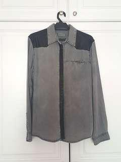 Cool unisex leather button up #mscfashion