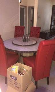 Dining Marble table with 6 chairs