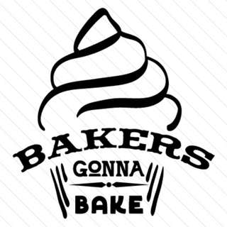 Handcrafted - Bakers Gonna Bake -  Printed Sticker / Die-Cut Decal