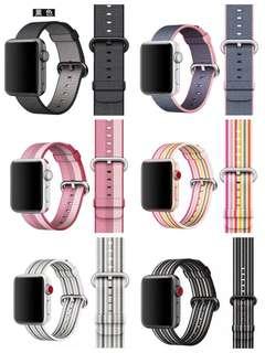 Apple Watch 尼龍條紋錶帶 iwatch 3/2/1 錶帶