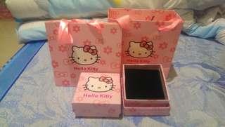 🚚 粉色KT貓禮盒+提袋
