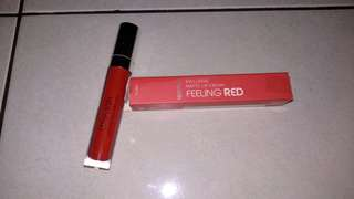 Preloved Wardah Exclusive Lip Matte No. 06 Feeling Red