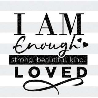 Handcrafted - I Am Enough - Die-Cut Sticker