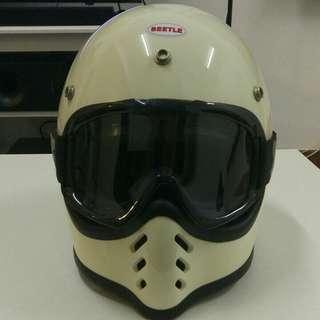 Beetle Helmet & Biltwell goggle set