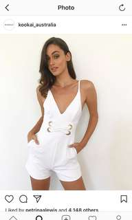 Kookai white  jumpsuit/ playsuit