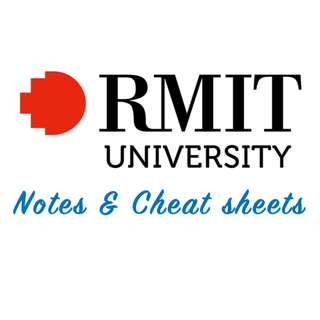 RMIT University Notes & Cheat Sheets