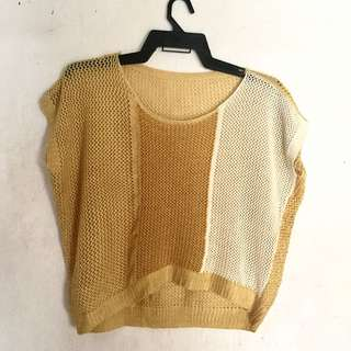 Knitted Yellow Cover Up
