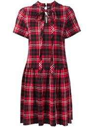 New Marc Jacobs red checked dress sz XS