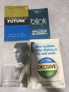 Self enrichment / self help books x 4
