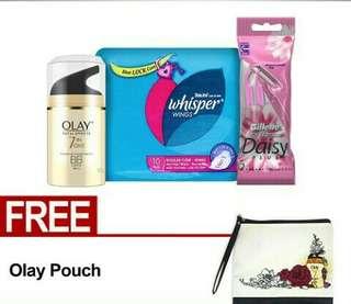 Paket cantik P&G.free ongkir