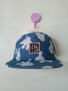 HEY BOY DENIM-KOREAN CAP
