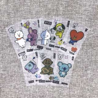 BT21 transparent cards