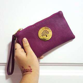 Violet pouch with strap #OCT10