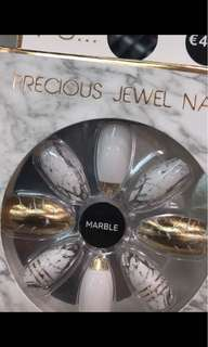 Glamour nail tip marble #kanopixcarousell