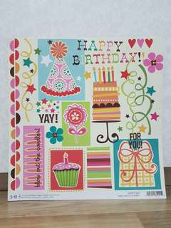 s.e.i 'Happy Day' Scrapbooking Paper