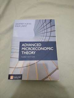 Advanced Microeconomics Theory 3rd edition: jehle #kanopixcarousell