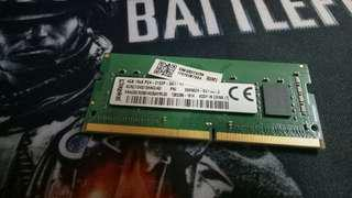 Kingston Laptop Ram 4GB Ddr4 2133mhz