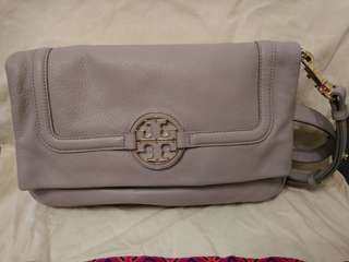 100% Real & New Tory Burch Grey Bag