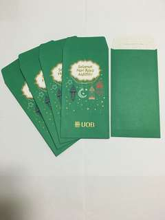 UOB Red / Green Raya Packets (5 pieces)