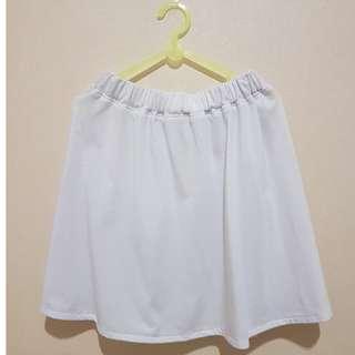 Flare Skirt White