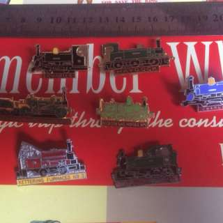 Vintage Locomotive Pin Badge Lot