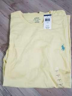 🚚 《美國精品》POLO T恤天鵝黃 L