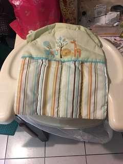 美國SUMMER INFANT 可攜式活動 餐椅(米色綠)