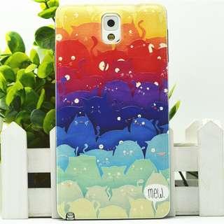 Samsung Note 3 漸變貓 卡通浮雕 彩繪手機殼 原價$98 傳本價$50 只餘幾件