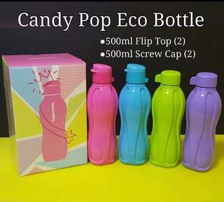 🍭Candy Pop Eco Bottle Set 500ml (4pcs)