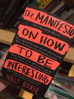 The manifesto on how to be interesting book