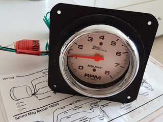 "Autometer Pro Cycle 5"" tachometer"