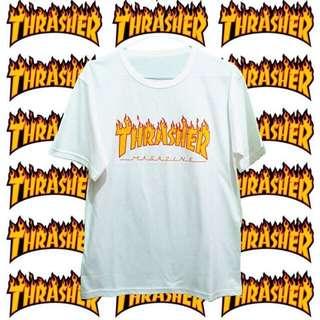 Thrasher Men Tumblr Tee - White