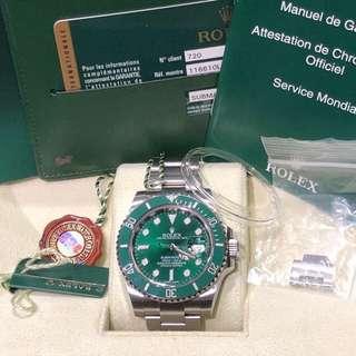 Rolex-116610LV-亂碼-2014年5月錶-Full Set!