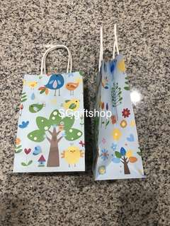 Tropical birds theme Kraft bag, paper bag, door gifts carrier