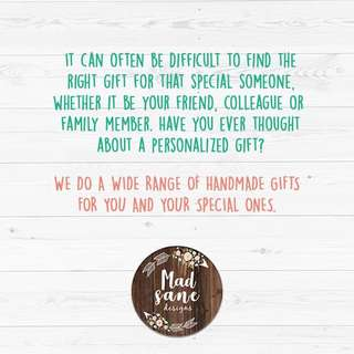 Customised and personalised gifts
