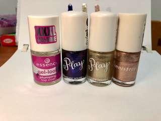 Metallic shinny blinking nail polish set(include TOP coat)