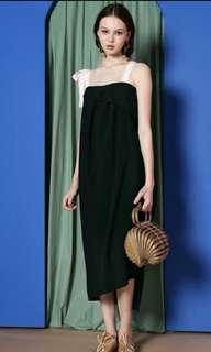 Back Ruffle Side Slit Dress