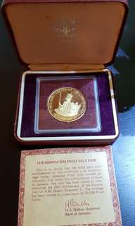 1978 Jamaica S250 Gold Proof Coin