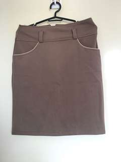 Brown Bandage Skirt