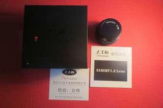 Lensa fix manual Mirrorless Canon 7artisans 35mm f1.2