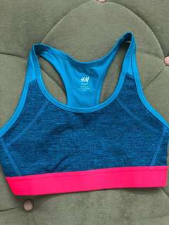 H&M Blue and Pink Sports Bra