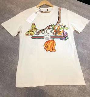 Gucci 18ss 動物昆蟲印花短袖T恤 XS-L碼,少量! $2890 保證100%Real