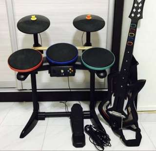 Xbox Guitar Hero Set