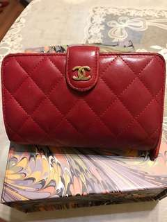 Chanel 紅色 Wallet 100%真 70%新 平賣